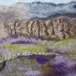 Hand felted and embroidered manipulated wool