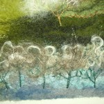 Loveliest of Trees - an original image using hand-made felt and embroidery